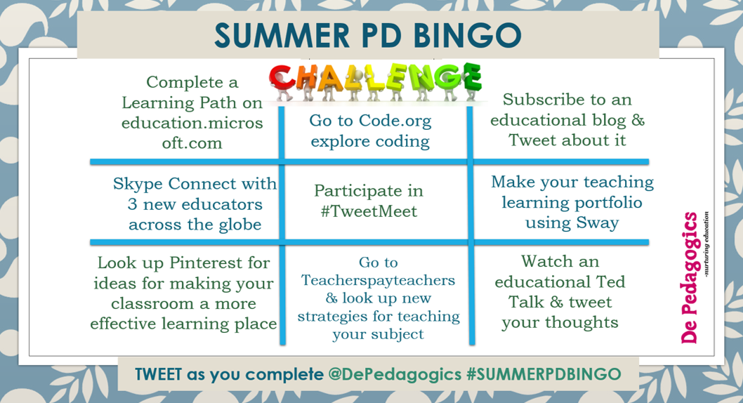 SUMMER PD BINGO